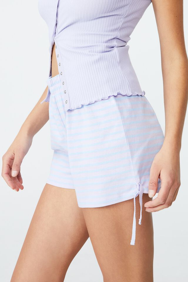 Jersey Placket Bed Short, CLASSIC STRIPE