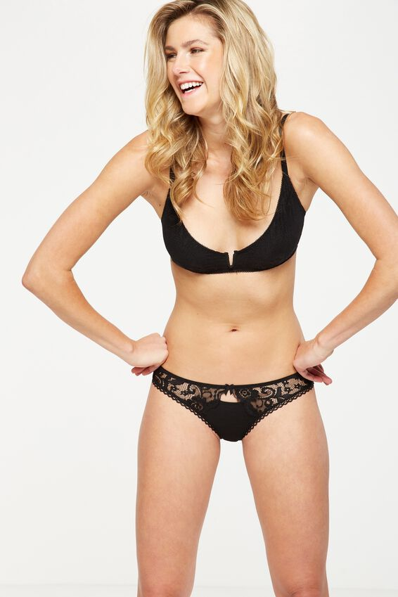 Lauren Bikini Brief, BLACK