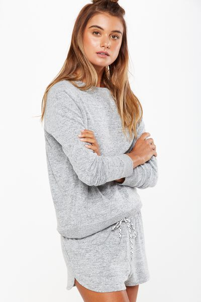 Super Soft Crew Neck Top, GREY MARLE