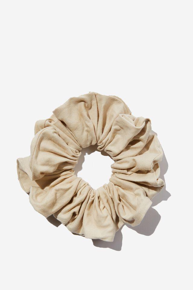 Organic Cotton Super Scrunchie, SANDSHELL