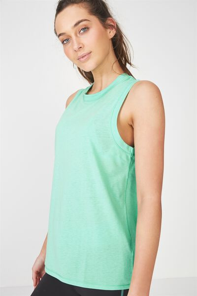 Lunge Tank Top, SPRING GREEN / DECIDE