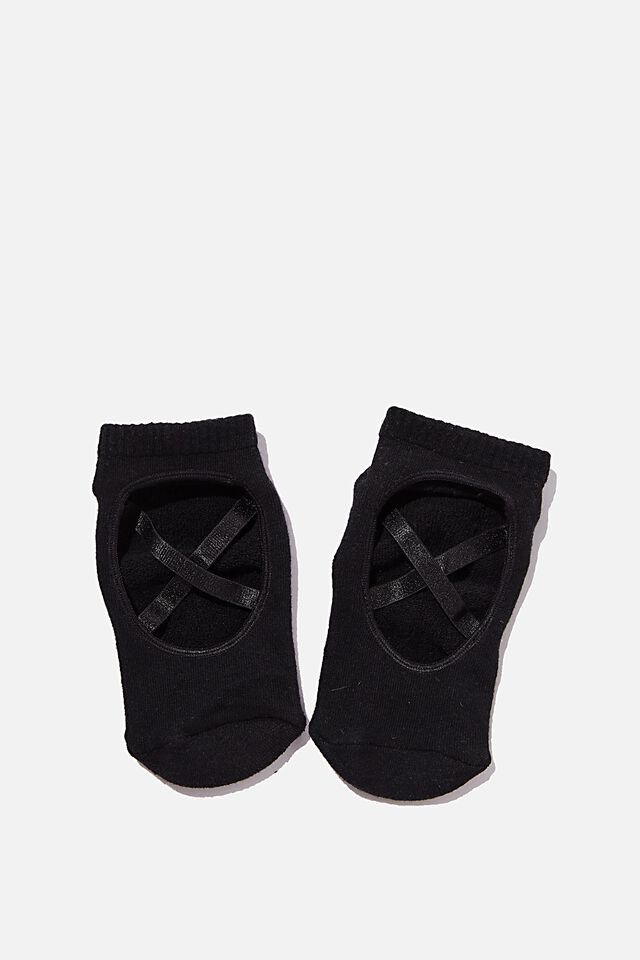 Pia Pilates Sock, BLACK