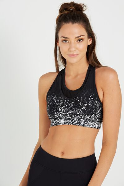 Double Up Sports Crop, MONO SEQUIN