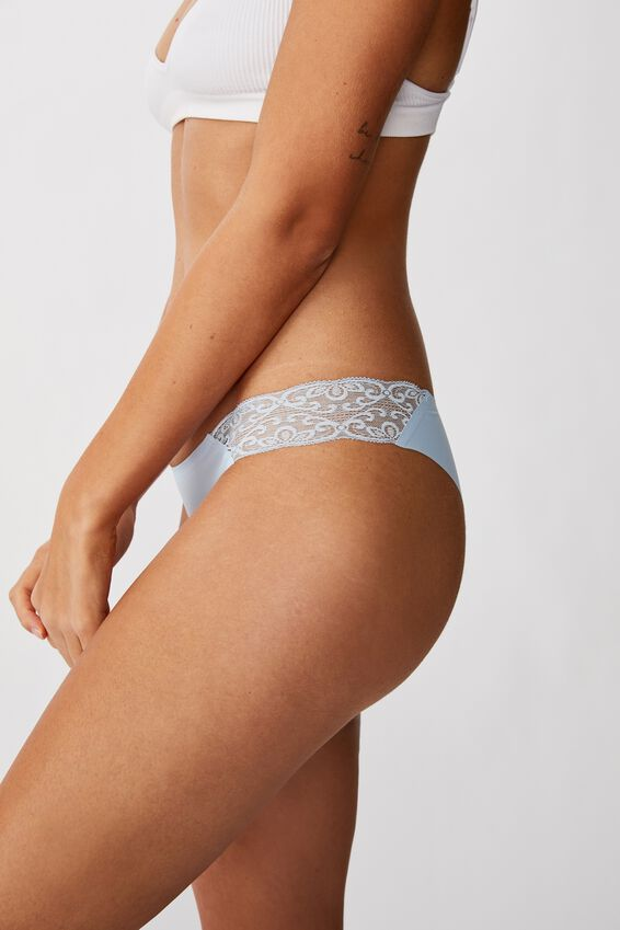 Party Pants Seamless Brasiliano Brief, BABY BLUE