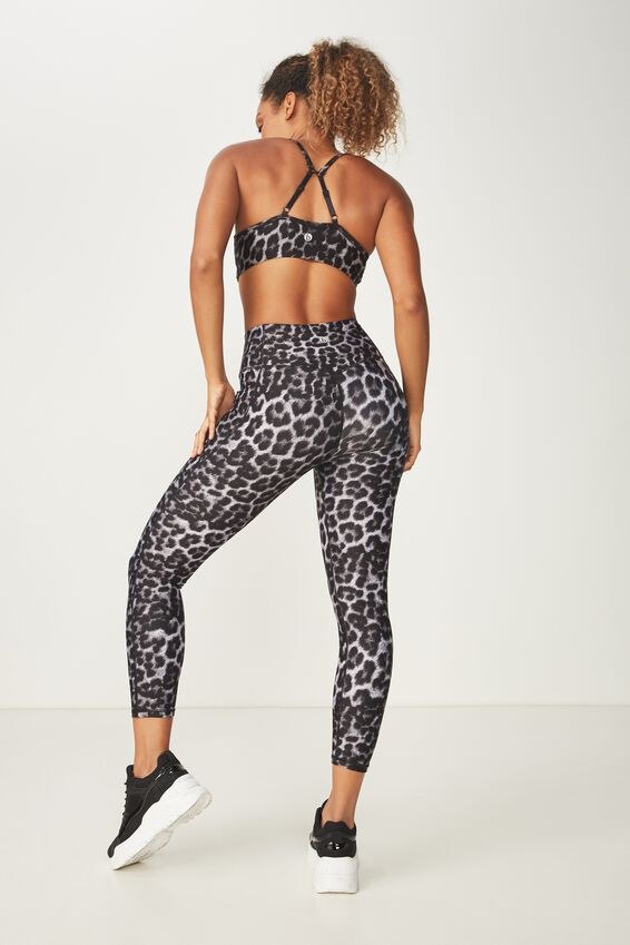Lightweight Studio 7/8 Tight, GREY LEOPARD