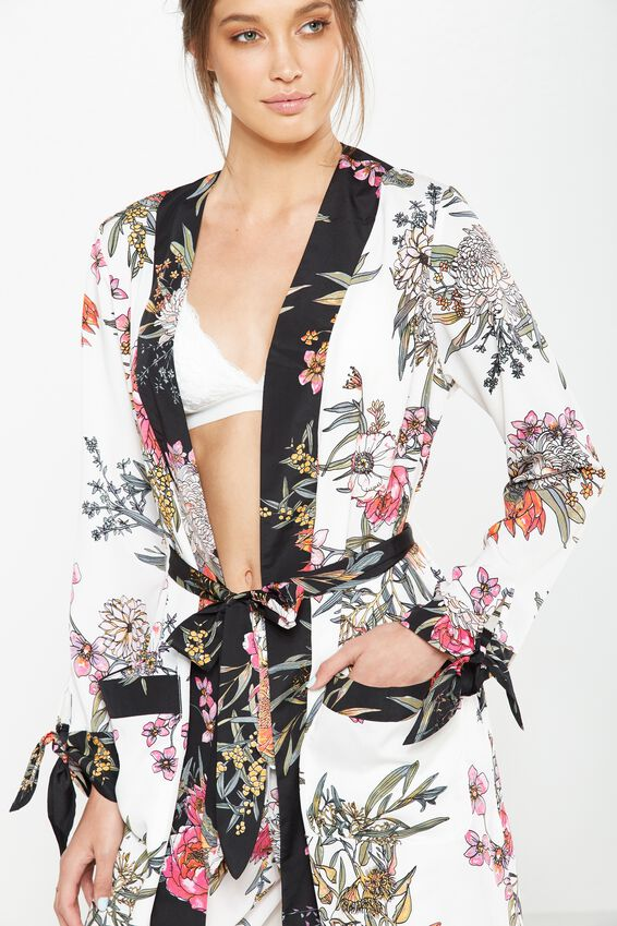 Cotton On Body Long Kimono Gown