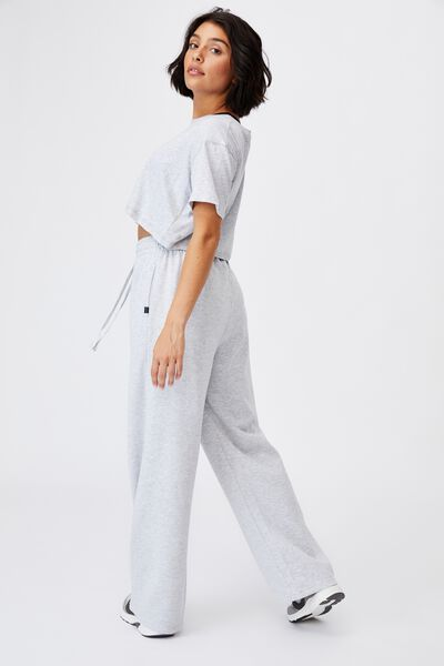 Lifestyle Wide Leg Trackpant, CLOUDY GREY MARLE