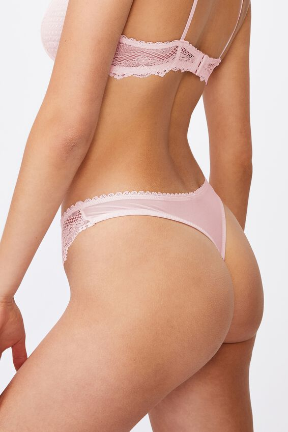 Stevie Lace G String Brief, PRETTY PINK