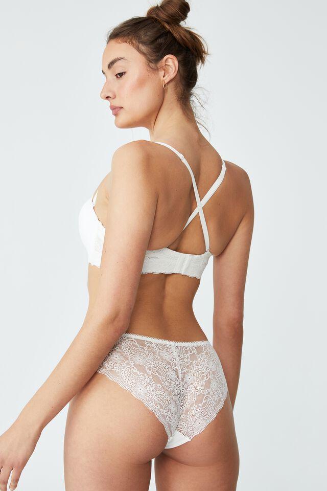 Ultimate Comfort Lace Strapless Push Up2 Bra, CREAM