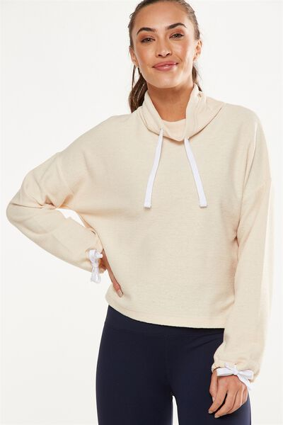 Tunnel Neck Long Sleeve Top, LIMESTONE