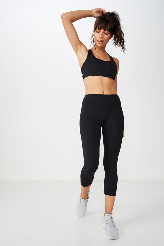 Active Core Cropped Tight, BLACK