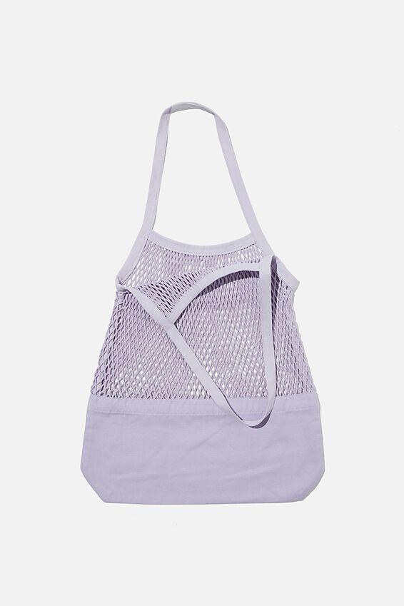 Woven Market Bag, VIOLET