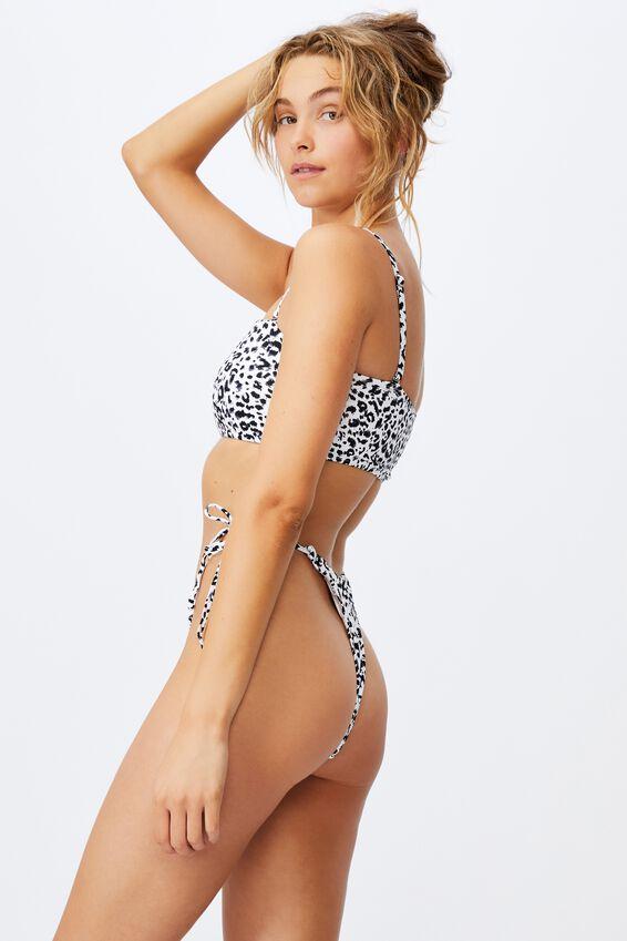 Midi Bandeau Bikini Top Mm, MONO LEOPARD