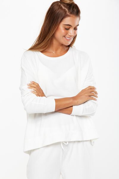 Super Soft  Lounge Top, WINTER WHITE MARLE