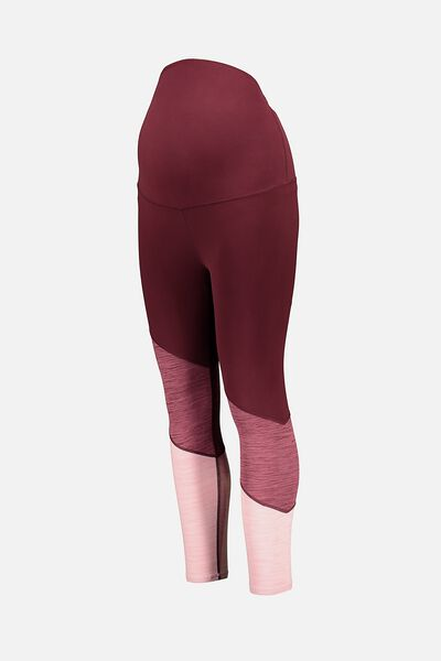Maternity So Soft 7/8 Tight, MULBERRRY MARLE SPLICE