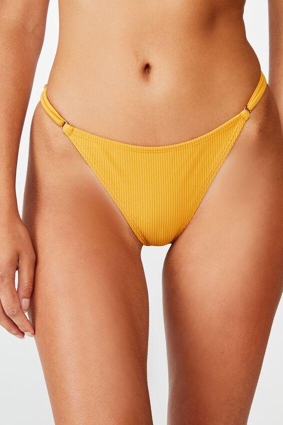 Tanga Micro Bikini Bottom, SPICY MUSTARD RIB