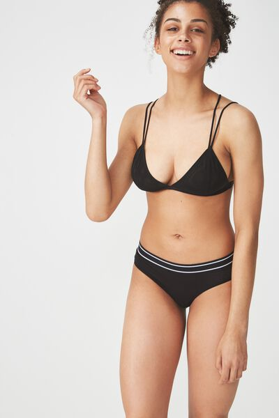 Sporty Femme Brasiliano Brief, BLACK