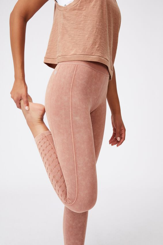 Lifestyle Seamless 7/8 Yoga Tight, CASHEW WASH
