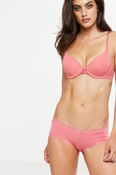 Super Soft Comfy Bum Brief, ROSEY PINK