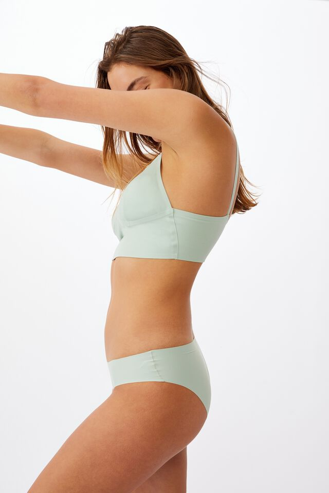 Everyday Bonded Longline Bralette With Cups, MINT CHIP