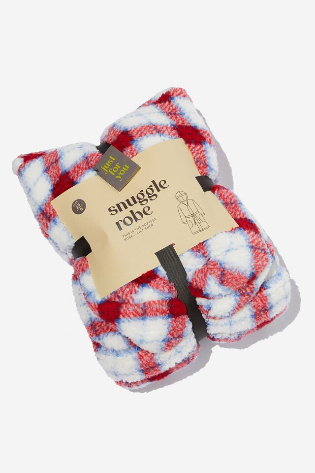 The Snuggle Robe, CHERRY RED CHECK