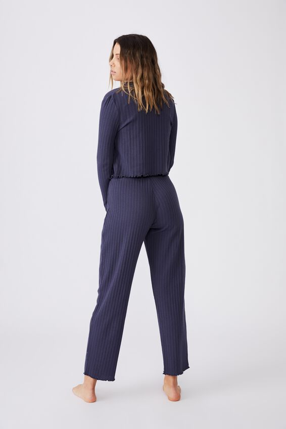 Knit Pointelle Sleep Pant, PHANTOM