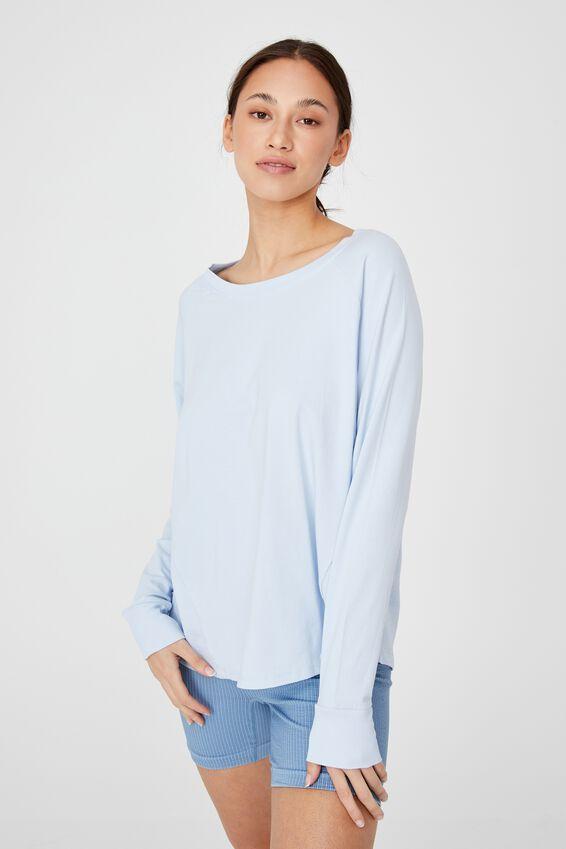 Active Rib Long Sleeve Top, BABY BLUE