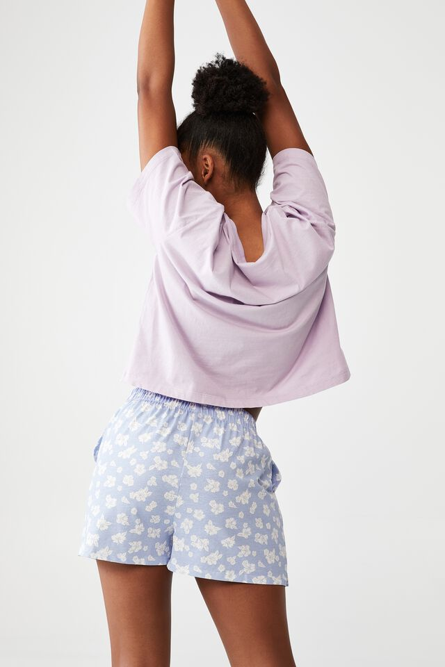 Jersey Boxer Short, DITSY HIBISCUS