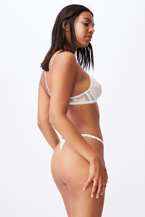 Cherry Blossom Tanga G String Brief, CREAM