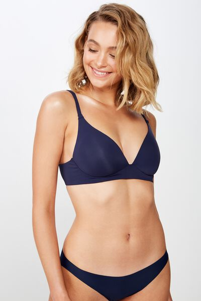 Wirefree Everyday T-Shirt Bra, INDIGO