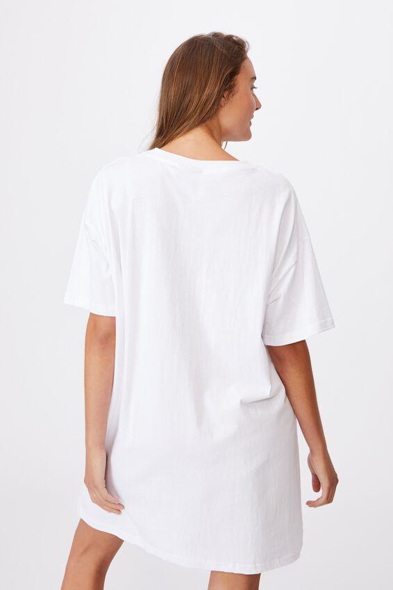 90 S Tshirt Nightie, LCN BRA WHITE/ROLLING STONES  89