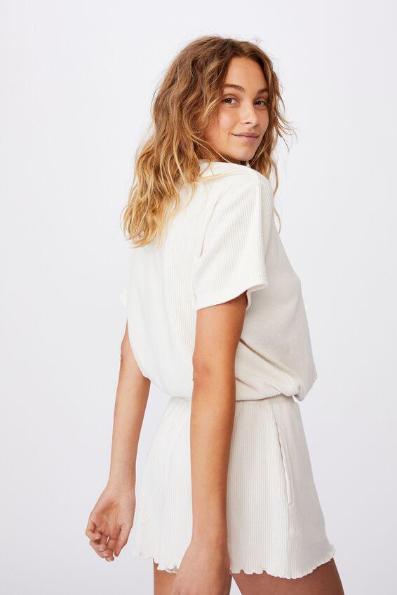 Super Soft Draw Cord T-Shirt, OATMEAL MARLE RIB