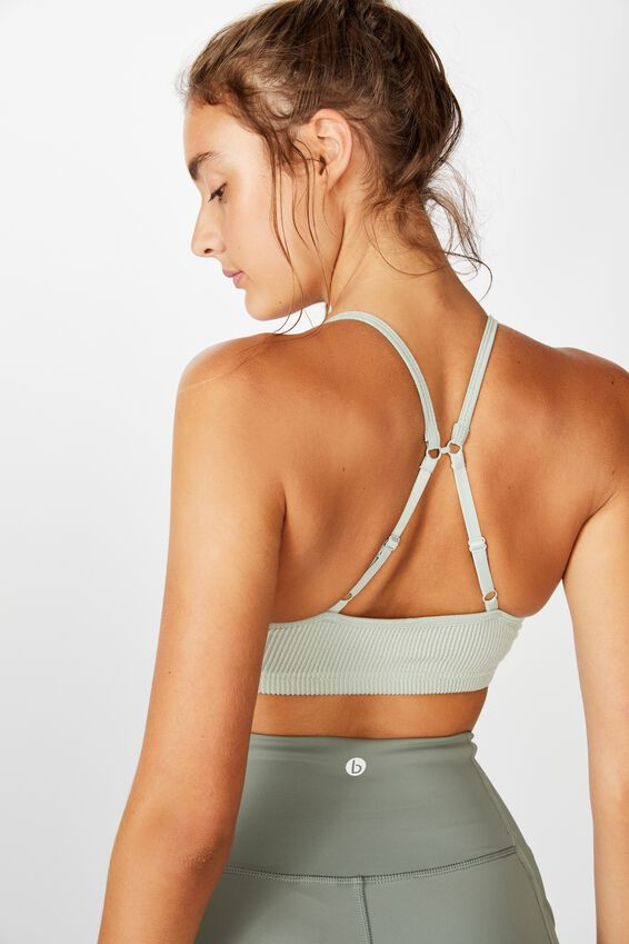 Workout Yoga Crop, WASHED ALOE TEXTURE