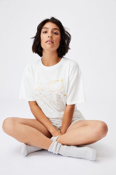 90S Bed T Shirt, LCN PUSH PUSHEEN LUCKY STAR