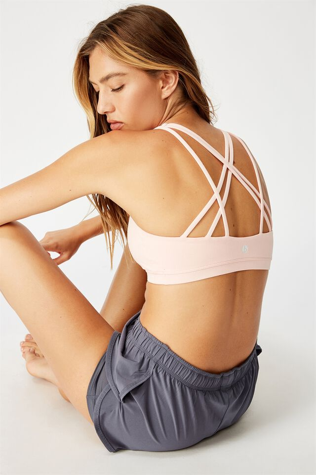 Strappy Sports Crop, PINK CAMEO