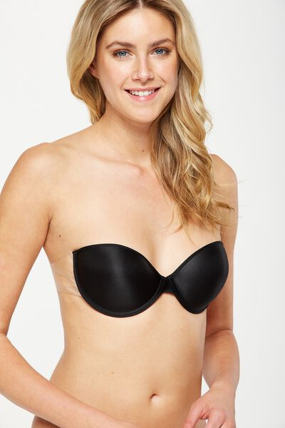 Backless Bra, BLACK