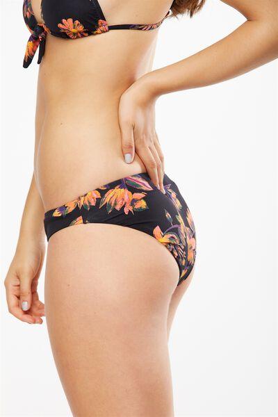 Classic Seamless Full Bikini Bottom, BLACK BOLD FLORAL