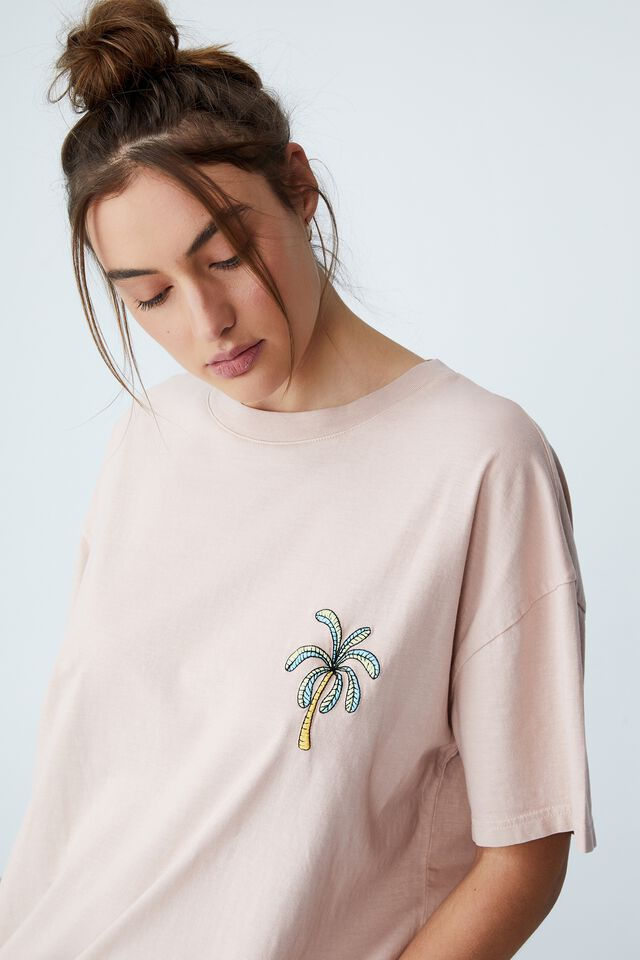 90S T-Shirt Nightie, LCN KAKAO RYAN HOLIDAY LIGHT LILAC
