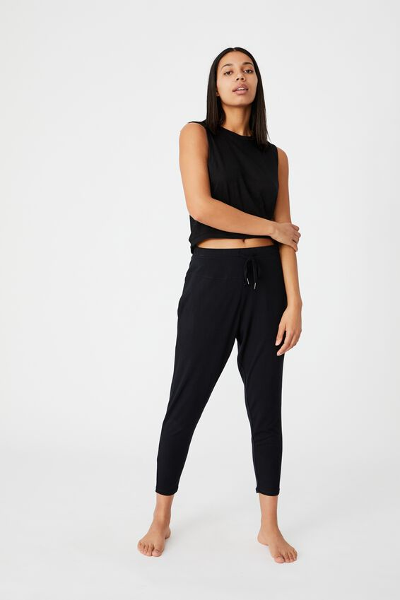 All Things Fabulous Cropped Muscle Tank, BLACK