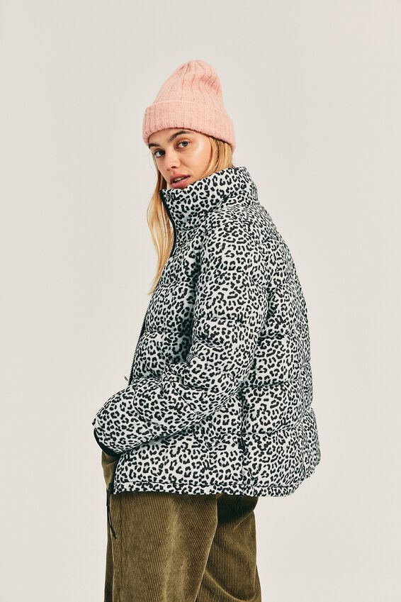 The Mother Puffer Jacket, WINTER ANIMAL