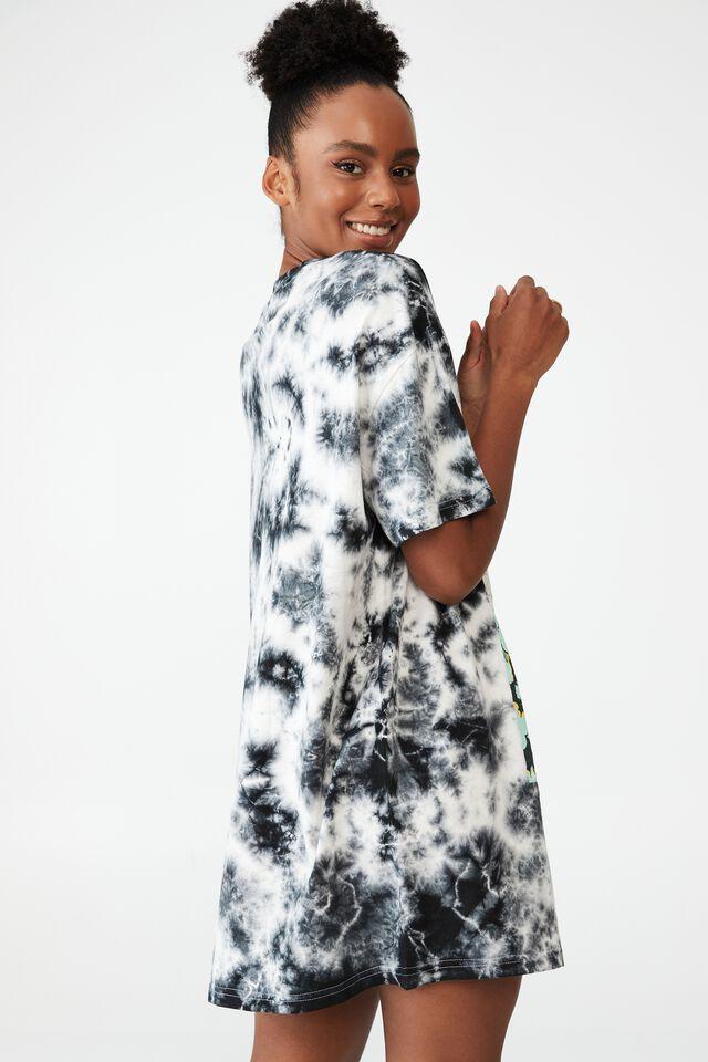 Organic Cotton 90S T-Shirt Nightie, LCN UNI CASPER/VINTAGE COMIC COVER TIE DYE