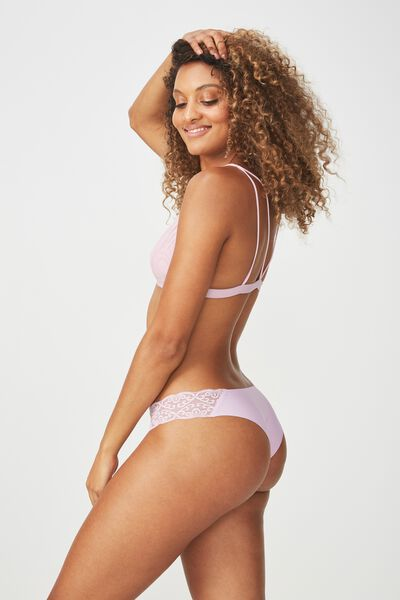 Party Pants Seamless Brasiliano Brief, PASTEL LAVENDER