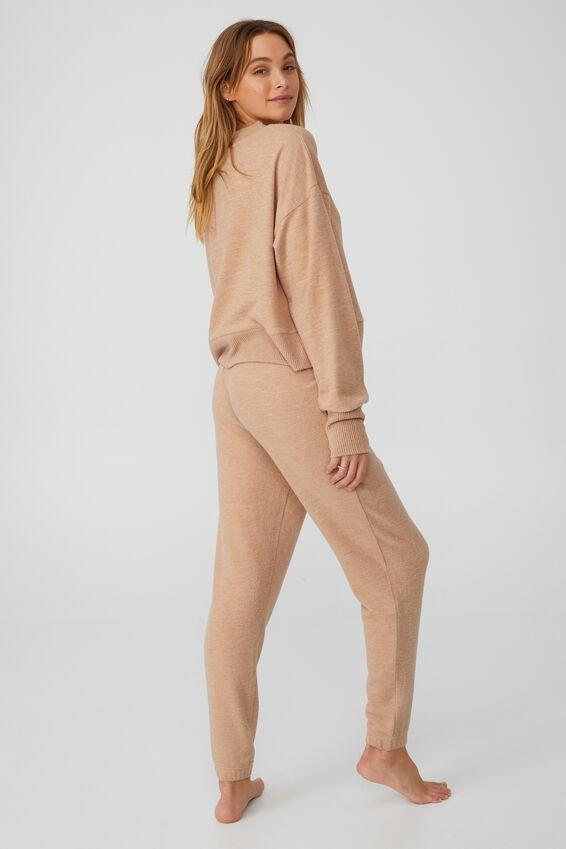 Super Soft Slim Cuff Pant, BUTTERSCOTCH MARLE