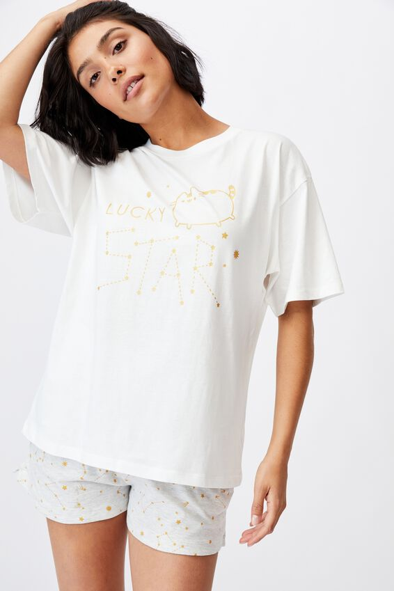 90S Bed T Shirt, LCN PUSH PUSHEEN LUCKY STAR
