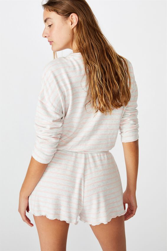 Super Soft Relaxed Short, SOFT GREY MARLE/PEACHES
