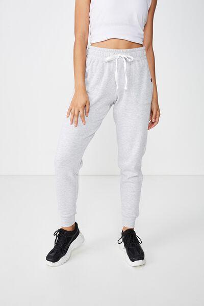 Gym Track Pants, CLOUDY GREY MARLE