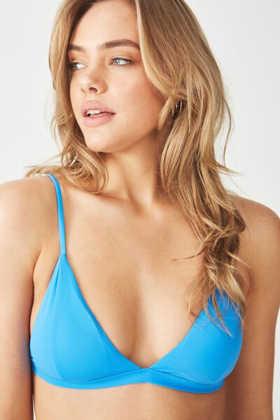 Fixed Triangle Bikini Top, COBALT BLUE