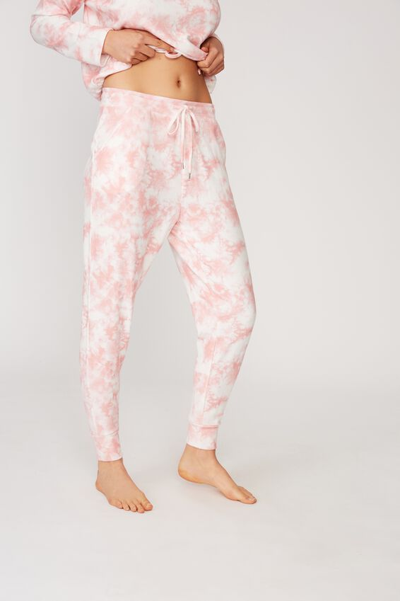 Supersoft Slim Fit Pant, CRYSTAL PINK OMBRE MARLE