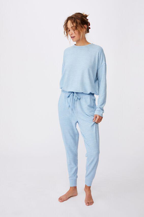 Supersoft Slim Fit Pant, GLACIER BLUE MARLE