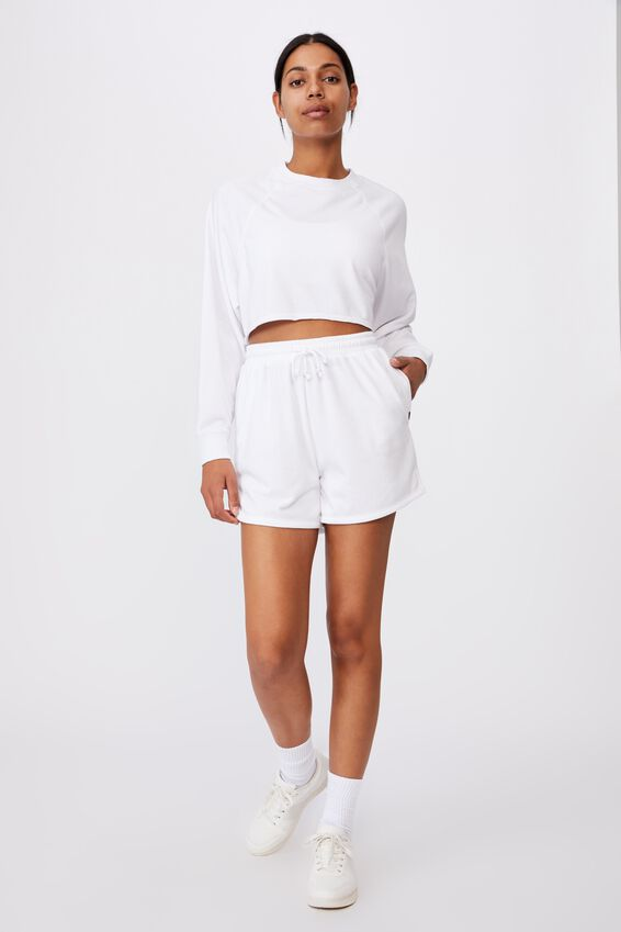 Lifestyle On Ya Bike Fleece Short, WHITE